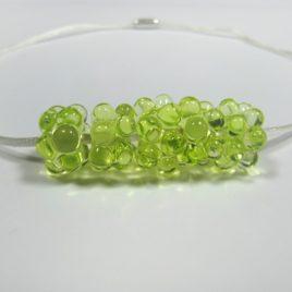 Náhrdelník zmořské pěny – zelený