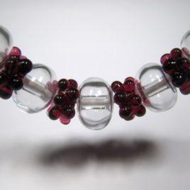 Horké maliny – souprava náhrdelníku a náušnic